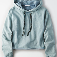 Don't Ask Why Boxy Crop Hoodie, Teal