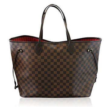 Neverfull Style Canvas Woman Organizer Handbag Damier Tote Shoulder Fashion Bag GM Size by LAMB