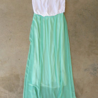 Island Waves Maxi in Mint [5214] - $42.00 : Vintage Inspired Clothing & Affordable Dresses, deloom | Modern. Vintage. Crafted.