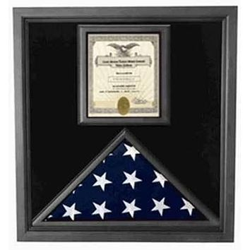 Flags Connections Flag and Certificate Case Black Frame, American Made