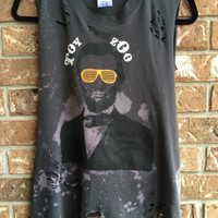 TOY ZOO, size large, tank top, concert shirt band tee, cropped tank, hard rock, rockster