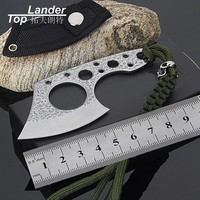 Portable Survival Hatchet Camping Survival Axe Tactical Knife Defense Hunting Axes Machetes Pocket Mini EDC Tools Outdoor Axe