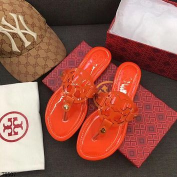 Tory burch Popular Summer Women's Flats Men Slipper Sandals Shoes
