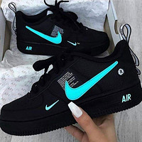 Onewel NIKE AIR FORCE 1 Tide brand simplified version OW low-top shoes blue hook