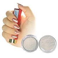 PrettyDiva Silver Chrome Pure Powder Mirror Effect Nail Powder Manicure Pigments