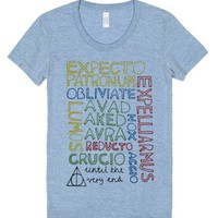 Until the very end.-Female Athletic Blue T-Shirt