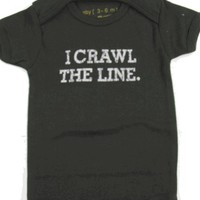 Unisex Baby Organic  I Crawl The Line Bodysuit - SOLD OUT- Polkadot Patch Boutique