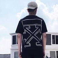 OFF WHITE Fashion Casual Print Shirt Top Tee