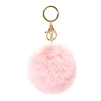 Furry Baby Pink Keychain