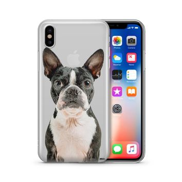 Boston Terrier - Clear Case Cover