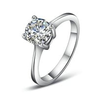 Yoursfs Cubic Zirconia CZ Wedding Engagemant Ring Four Prongs(7)