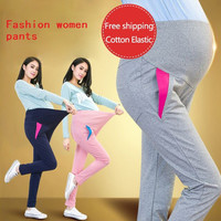 Elastic Waist Maternity Leisure trousers For Pregnancy Clothes For Pregnant Women  spring/autumn 2015 Maternity Plus Size 5color
