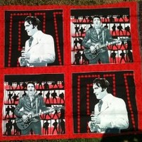 "ELVIS PRESLEY ""IN CONCERT"" Fabric Pillow Panel (Great For Quilting, Sewing, Craft Projects, Pillow Cases or Throw Pillows) 35"" x 44"" Wide"