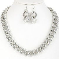 Gianna Chain Necklace and Earrings Set