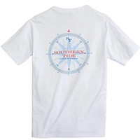 Due South Tee Shirt in Classic White by Southern Tide