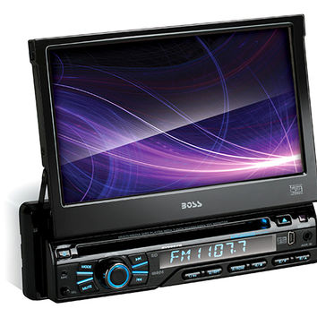 "Boss BV9967B Black Single Din 7"" Motorized Touchscreen"