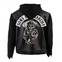 Sons of Anarchy Leather & Fleece Highway Jacket