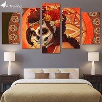 HD Printed Day of the Dead Face Group Painting room decor print poster picture canvas decoration Free shipping/NY-279