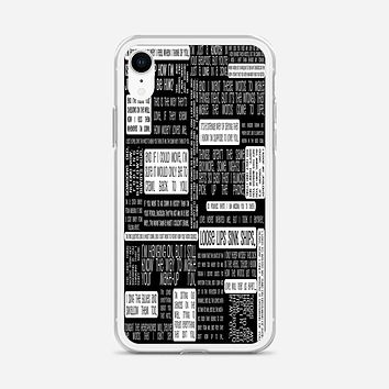 Fall Out Boy Logo Quotes iPhone XR Case