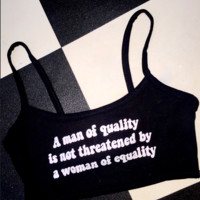 SWEET LORD O'MIGHTY! A MAN OF QUALITY BRALET IN BLACK