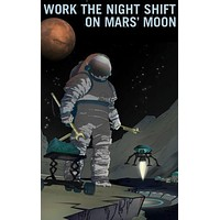 """Mars Recruitment Work The Night Shift poster Metal Sign Wall Art 8in x 12in 12""""x16"""""""