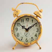 Yellow Vintage-Style Magnet Clock - World Market