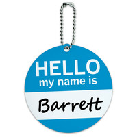 Barrett Hello My Name Is Round ID Card Luggage Tag