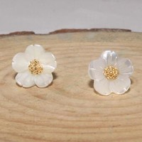 925 Silver Stylish Floral Earrings [7495280903]
