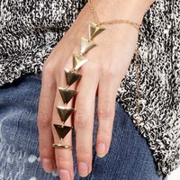 SALE-Gold Triangle Hand Bracelet