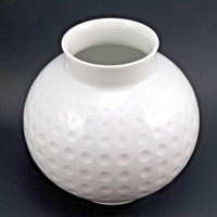 Arzberg Germany Op Art Golf Ball Vase Heinrich Loffelhardt Design Minimalist