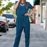 Welcome To The Nightlife Jumpsuit, Blue