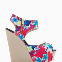 Jasper 07 Zip Cut Out Peep Toe Wedge