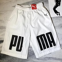 PUMA Hot Sale Men Casual Print Sports Running Shorts White