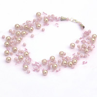 Wedding Necklace. Champagne Necklace. Bridesmaid Necklace. Beadwork.  Multistrand Necklace.