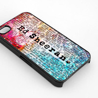 Ed Sheeran Rainbow for iphone 4/4s case, iphone 5/5s/5c case, samsung s3/s4 case cover
