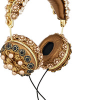 Dolce & Gabbana - + Frends embellished metallic leather headphones