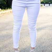 The Illusion Jeggings - White - Final Sale