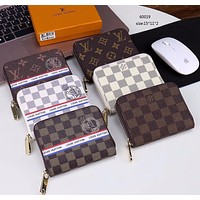 LV Louis Vuitton Fashion Women Leather Single Zipper Wallet Purse(6-Style) I-LLBPFSH