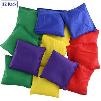 12 Pack Bean Bag Toy Set Fun Sports Outdoor Family Games Bean Bag For Kids (Multicolor)