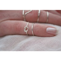 Pinky Stacking Ring - Set of Two - Sterling Silver