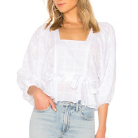 Parker Eliana Combo Top in White