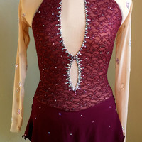Custom Figure Skating Dress Costume/ Baton Twirling Costume/ Competition Dance Dress-Ready to Ship!