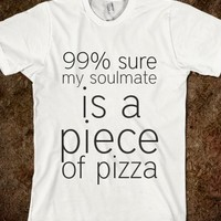 piece of pizza-Unisex White T-Shirt