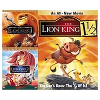 Walt Disney's Lion King Trilogy DVD Set 3 Movie Collection