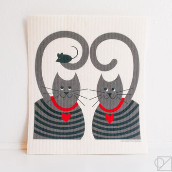 Swedish Dishcloth Cats