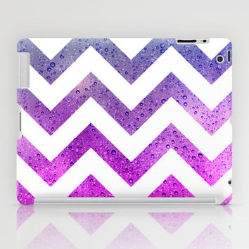 Chevron with Rising Bubbles iPad Case by tjc555 | Society6