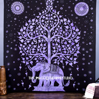 Queen Elephant Tree Tapestry Hippie Good Luck Elephant Tapestries Wall Tapestries Wall Hanging Indian Tapestry Bedspread Bohemian bed Sheet