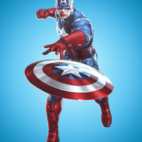 CAPTAIN AMERICA Art Print by Hands In The Sky