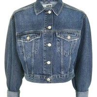 MOTO Denim Crop Jacket - Jackets & Coats - Clothing