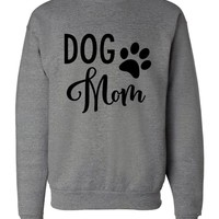 """Dog Mom"" Crew Neck Sweatshirt"